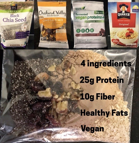 High Protein Travel Oatmeal (vegan)